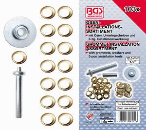BGS 8111 103 piezas Surtido de instalaci/ón de ojales