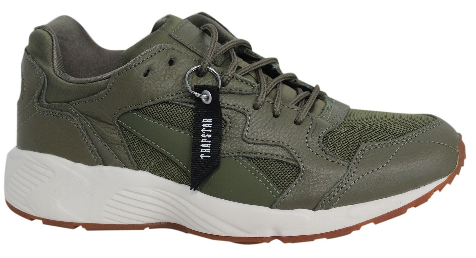 Puma x TRAPSTAR Prevail Lace Up Burnt Olive Mens Trainers 363469 02 U1