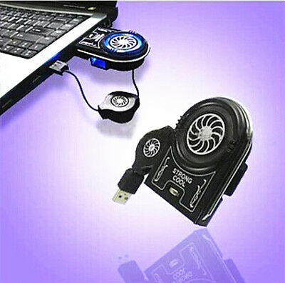GRAU Mini Vacuum USB Cooler Air Extracting Cooling Fan for Notebook Laptop