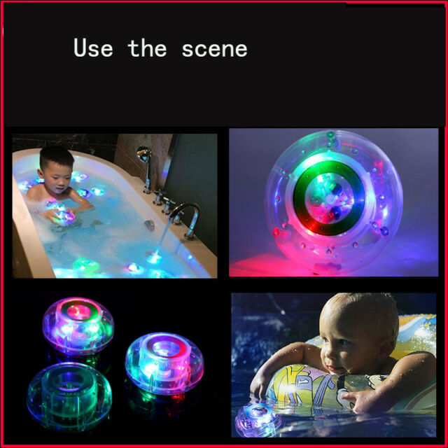 Fun Bathroom LED Light Baby Kids Ball Toy Color Changing Waterproof In Bath Time