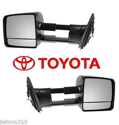 2007-2014 TOYOTA TUNDRA TOW MIRROR SET Towing Mirrors  OEM  OE