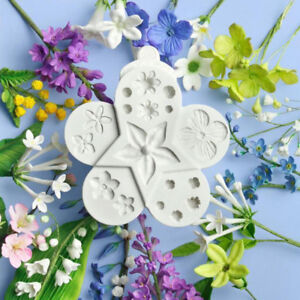 Flowers-Silicone-Cake-Mould-Resin-Fimo-Leaf-Plant-Ball-Fondant-Baking-Icing-Mold