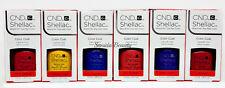 CND Gel Polish .25oz-All 6 shades from NEW WAVE Shellac - 91404-06,08-10
