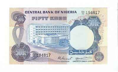 Dedicated Nigeria 1973-78 Fifty Kobo !!unc! Relieving Rheumatism And Cold