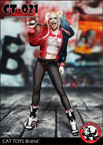 "CAT TOYS CT021 1//12 Mini  Female Clown Clothes W// Head Sculpt For 6/"" Figure Body"