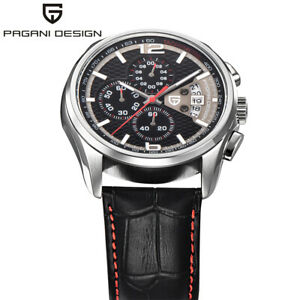 PAGANI-DESIGN-Sport-Quartz-Genuine-Leather-Band-Date-Mens-Wrist-Watch-Outdoor
