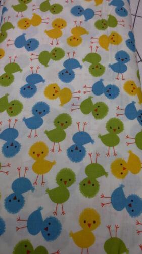 100/% algodón Tela de Robert Kaufman Urban Zoologie pollitos pollos 12859