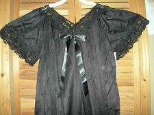 *CUTE* LONG Nightgown BOW LACE BLUE PINK Yellow MINT Nightie SMALL MEDIUM LARGE