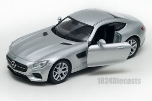 Mercedes-SLS-AMG-GT-silver-Welly-scale-1-34-39-model-toy-car-gift