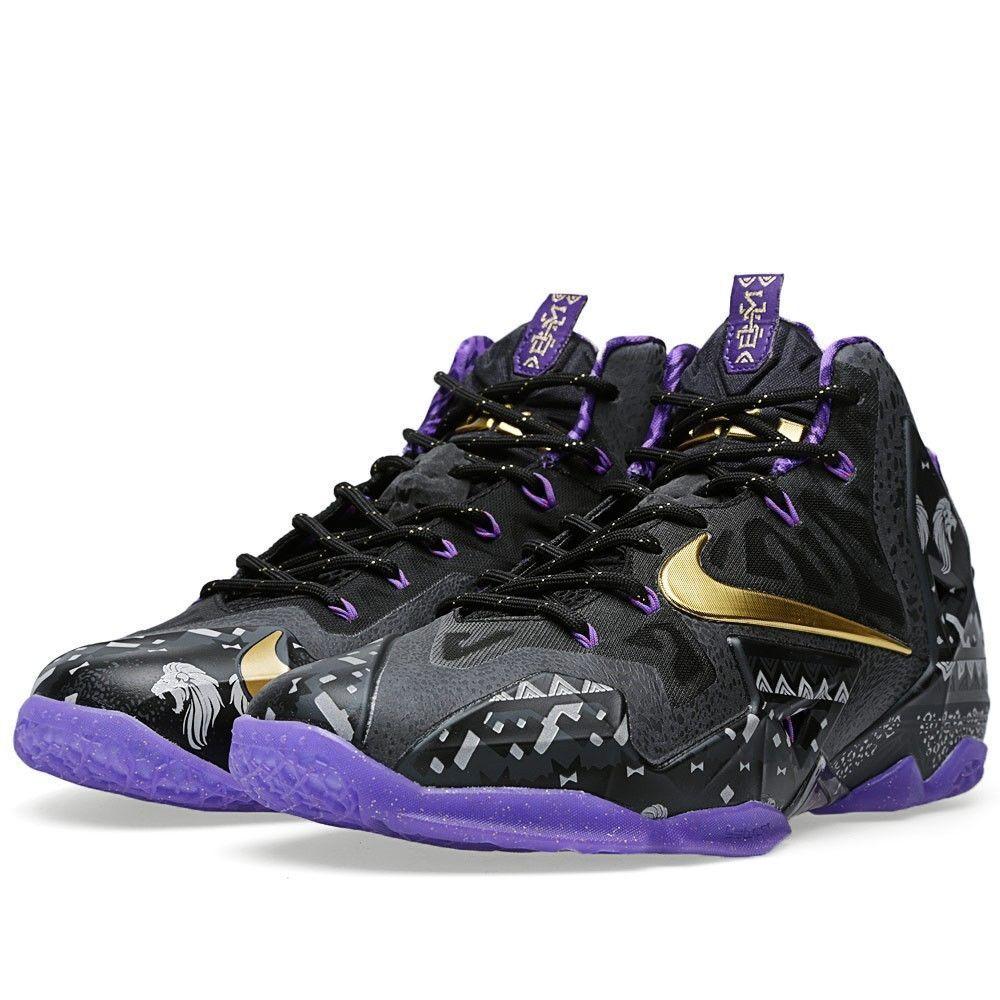 Nike lebron xi nero history month editon mvp xii xiii elite s 646702-001 sz 14