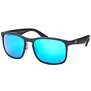 adbe2b754aa Ray-Ban Chromance RB 4264 601sa1 Matte Black Sunglasses Blue Flash  Polarized for sale online