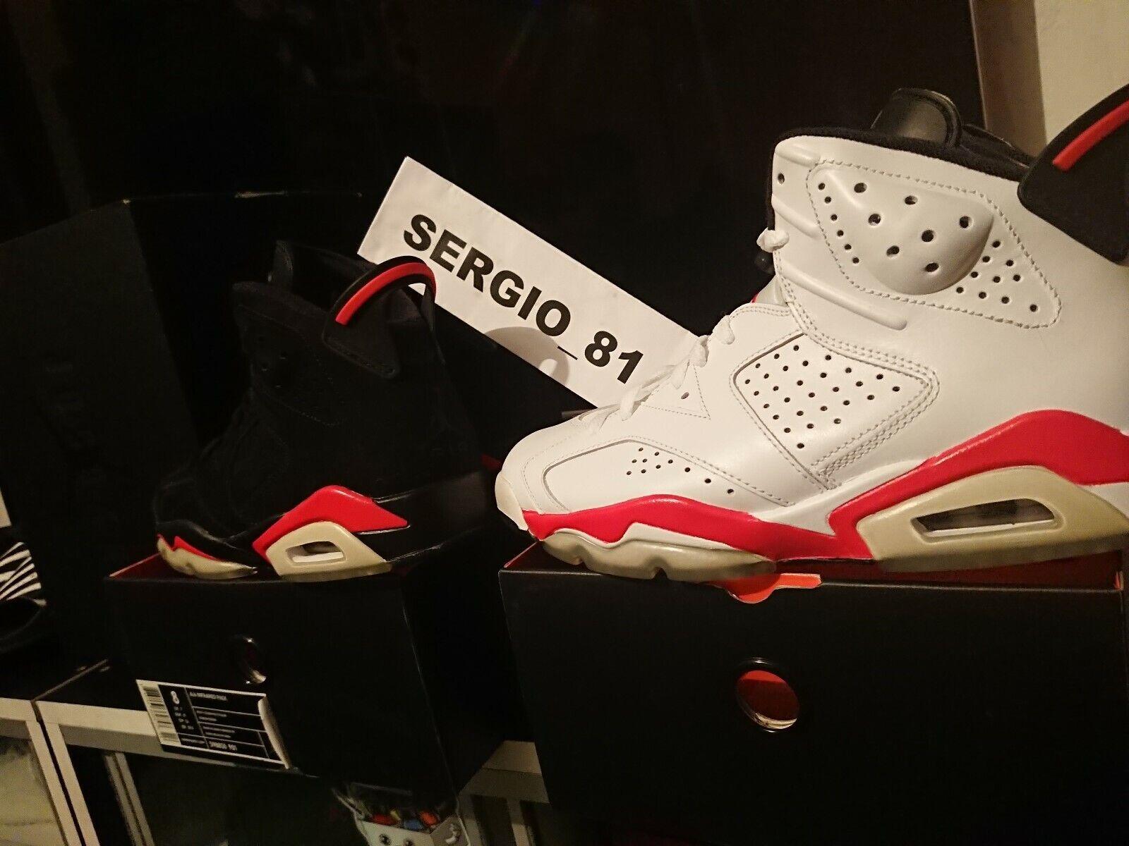 2010 Nike Air Jordan 6 Infrared Pack  398850 901 US8 100% AUTHENTIC