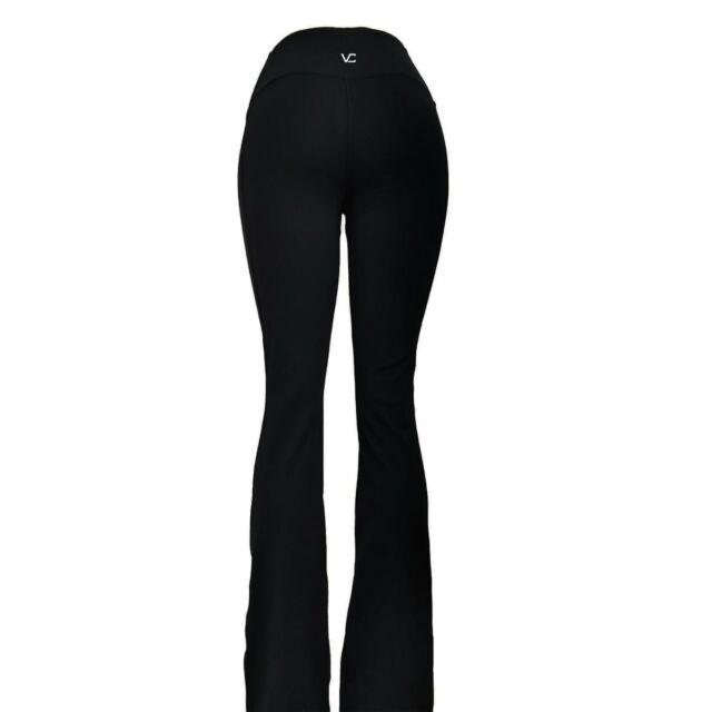 391df8d162 VC High Mid Waist Tummy Control Yoga Pants pants VCYP06 VC6F Flare Black X  Tall
