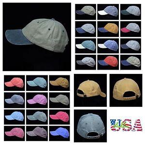 c424f9faeb15e3 Plain Baseball Cap Washed Caps Brushed Faded Hat Unisex Cotton Hats ...