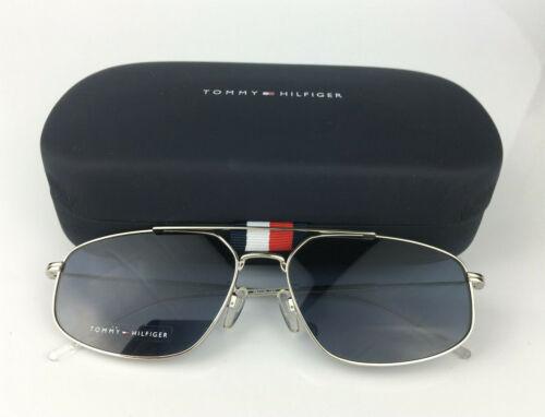 TOMMY HILFIGER Sunglasses Blue Lens Silver Frame TH1628//G//S Mens