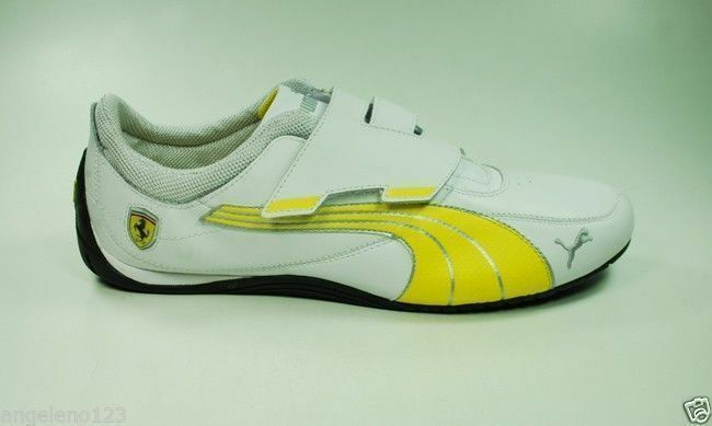 Puma Homme Drift Cat 4 Closure Chaussures Ferrari Athletic Fashion Sneaker Leather Blanc