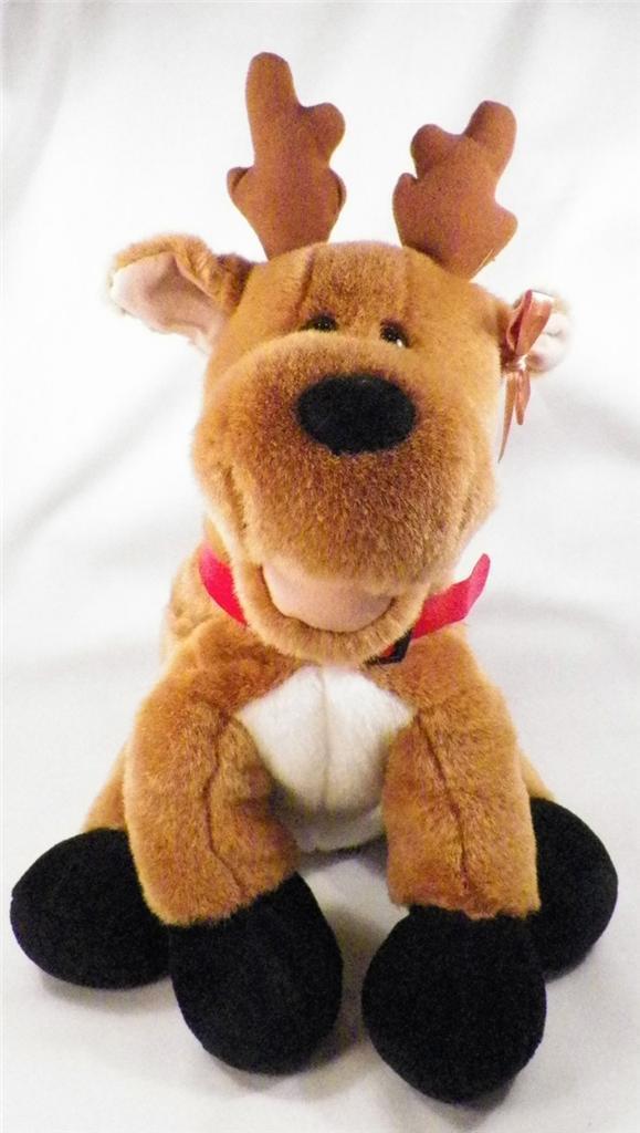 Pawsenclaws & Co Plush Reindeer Toy Stuffed Custom Bear Makers Zipper NICE COND