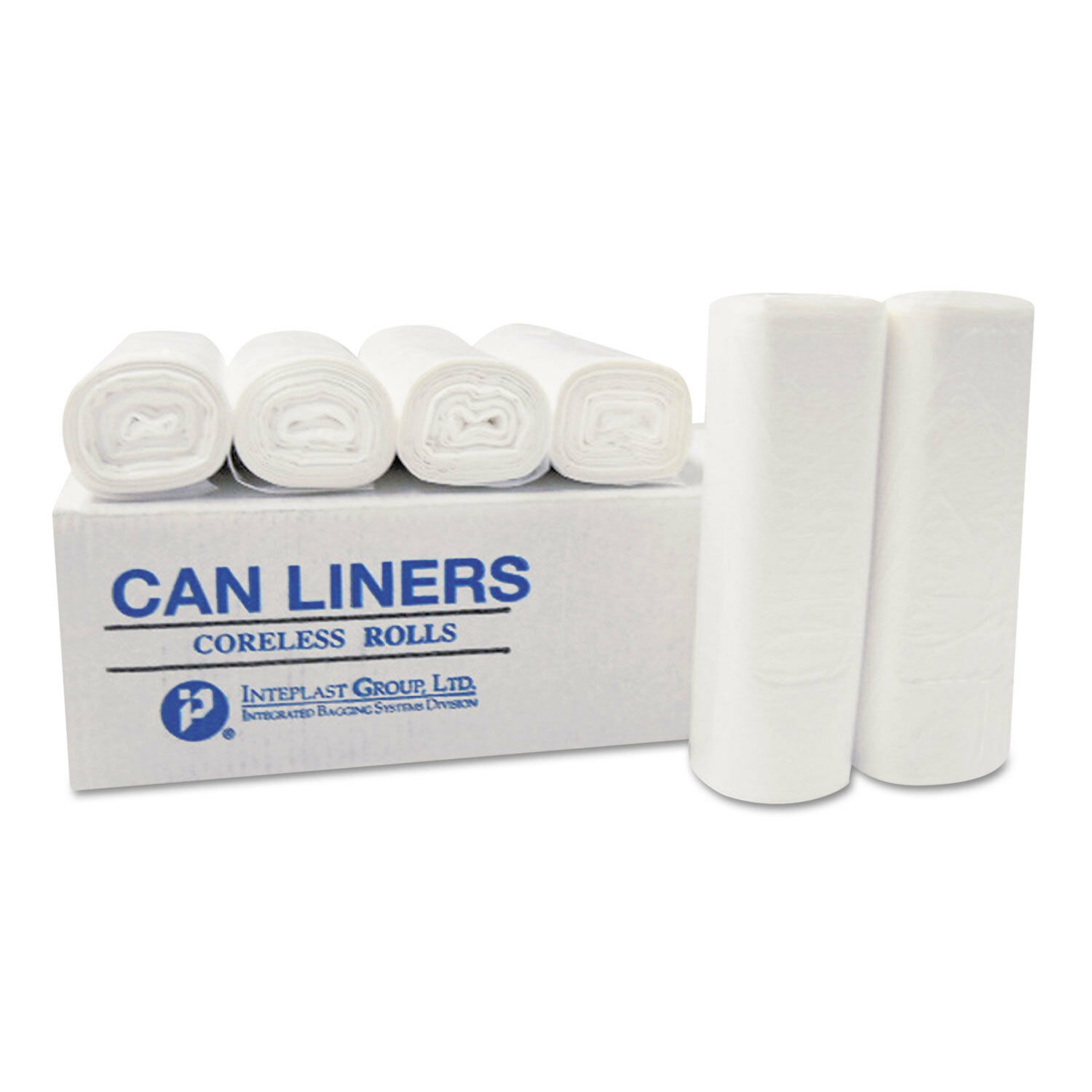 Inteplast Group High-Density Can Liner 20 x 22 7-Gallon 6 Micron Clear 50 Roll