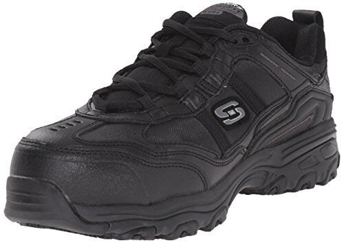 Skechers Women's D'liteTolland Work Shoe Comp Toe Slip Resistant EH, Black