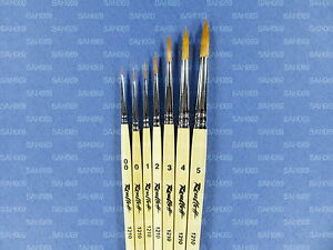 SYNTHETIC-PROFESSIONAL-ARTIST-PAINT-BRUSHES-Short-Handle-1210-Russian-Roubloff