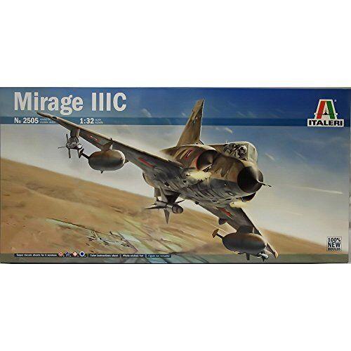 Mirage III C with Decals 6 version Fighter Plastic Kit 1 32 Model 2505 ITALERI