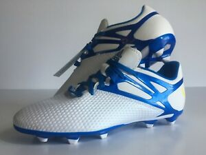 Adidas 15 3 Trx Fg Messi Soccer Shoes White Blue Kids Youth Junior Size 5 New Ebay
