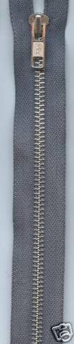 AO56-M YKK Cremallera Extremo Abierto Metal Plateado-cada uno