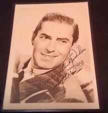 Tyrone Power Autograph photo COA