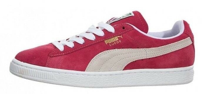 Puma Womens Sneakers shoes - 355462 Classic Pink Suede Lace Up Low Top Trainers
