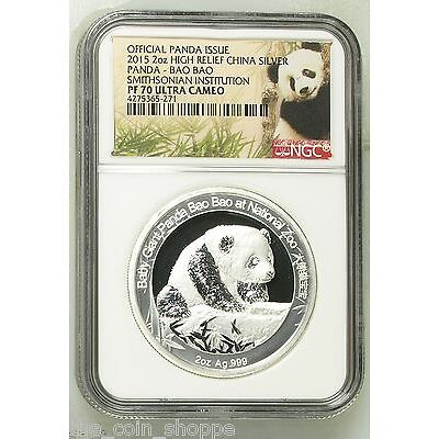 Smithsonian China Panda - Bao Bao - NGC PF70 UC - 2015 2 oz Proof Silver Medal