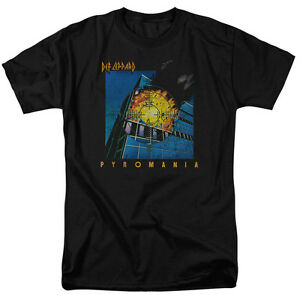 Def-Leppard-Rock-Band-PYROMANIA-Licensed-Adult-T-Shirt-All-Sizes