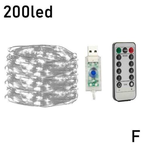 Fashion Control Solar String Lights Waterproof Copper Outdoor Decor Fairy J9P2