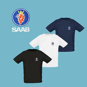 SAAB-T-Shirt-EMBROIDERED-Auto-Car-Logo-Tee-Mens-Clothing-Gift-Friend-Accessories