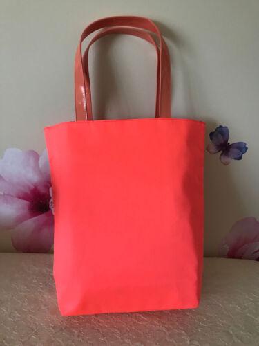 "Lancome Orange Fabric Tote Bag 15 1//4/"" W x 15 1//2/"" T x 4/"" Wide Base New"