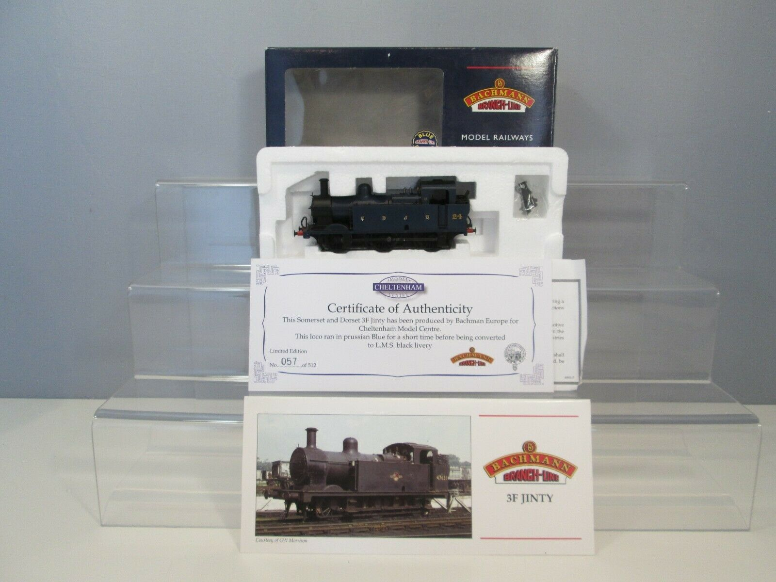 Bachmann OO Gauge 32-225V Class 3F Jinty SDJR azul No. 24 Ltd Edition