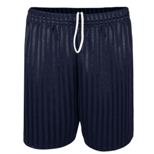 Mens Shadow Stripe Elasticated Drawstring Waist Football Sports Shorts Size