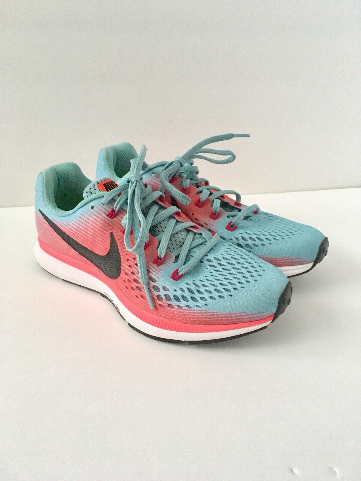 Nike Air Zoom Pegasus 34 Women Mica bluee Racer Pink 880560-406 Running shoes 8.5