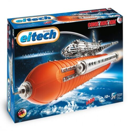 Deluxe Space Shuttle With Booster Eitech C12 Metal Construction Building Toy Kit