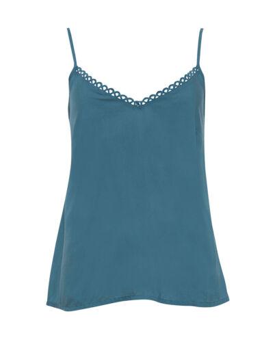 Ladies Womens Jade Green Cami Srappy Vest Pyjama Top ~RRP £18 ~ SIZE 10 12 20 22