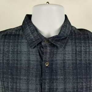 NWT-Calvin-Klein-Jeans-Mens-Blue-Plaid-Check-Dress-Button-Shirt-Sz-Medium-M