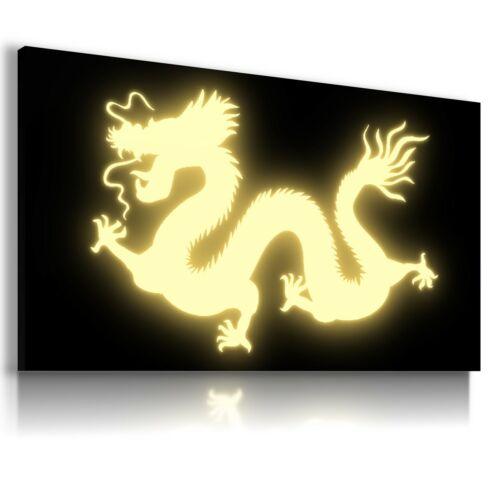 DRAGON CHINA FANTASY WORLD Canvas Wall Art Picture F10 NO FRAME  MATAGA .