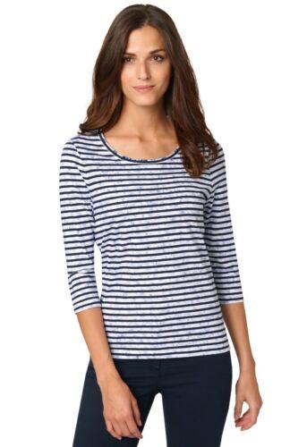 Cotone shirt Donna T Maglietta Blu Righe Bonita Oqw8FXnvx