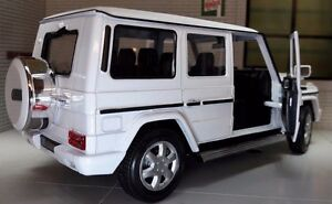 1 24 Scale Mercedes White G Class G Wagon 24012 Detailed Welly