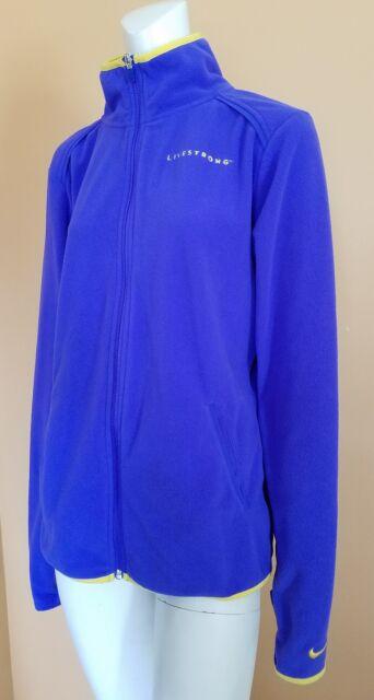 33a62861fabc53 Women s Nike Livestrong Full Zip Running Athletic Fleece Jacket Size L  Purple
