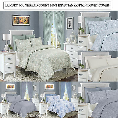 Luxury 600TC Egyptian Cotton Duvet Cover & Pillowcases Bedding Set Hotel quality