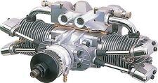 New Saito Engines FA-182TD 4 stroke cycle engine Twin Cylinder Dual Plug