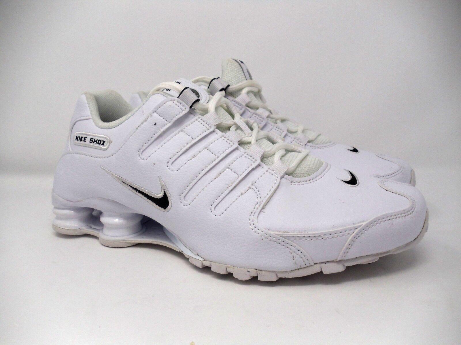 Nuova sz 9 uomini è nike shox shox shox nz ue Uomo scarpe bianco nero 501524-106 04920a