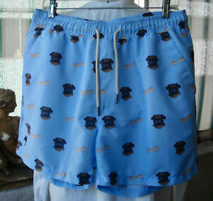 25eb507b5ed2f Image is loading OAS-Swedish-Designer-Swim-Shorts-Trunks-Pug-Dogs-