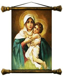 Religion-Mary-Handmade-Oil-Painting-Picture-Oil-Frame-Pictures-G01596