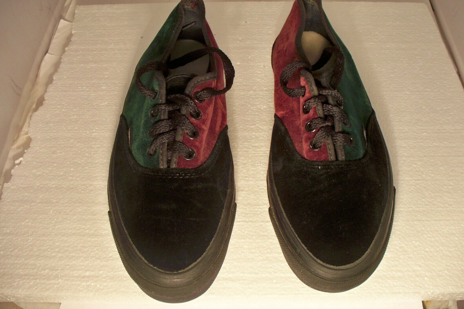 Vintage Rare HTF Vans Made In USA Velvet Shoes Wo… - image 3